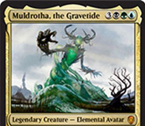 【ドミナリア】墓場波、ムルドローサ(Muldrotha, the Gravetide)が公開!黒緑青3で6/6&毎ターン、墓地から異なるタイプのパーマネントを1枚ずつ唱えられるようになる伝説神話のエレメンタル・アバター