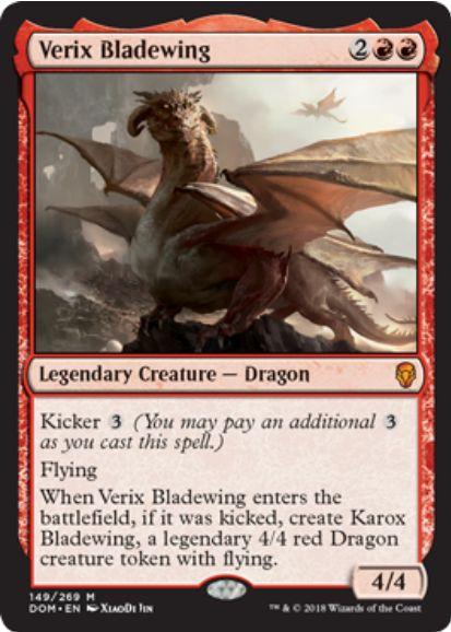 刃の翼ヴェリックス(Verix Bladewing)ドミナリア・英語版