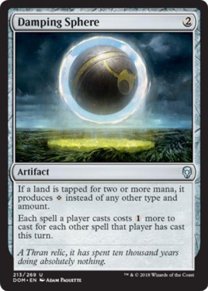 減衰球(Damping Sphere)ドミナリア・英語版