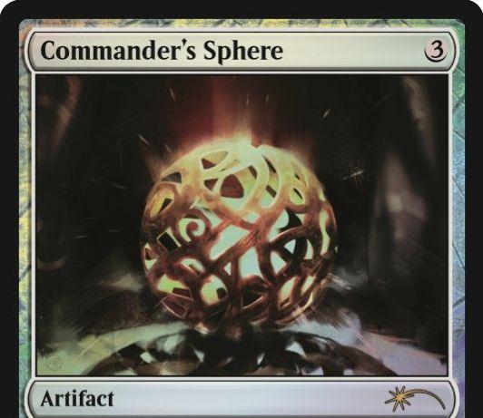 ジャッジ褒章プロモ版「統率者の宝球/Commander's Sphere」が公開!統率者セットに収録のマナファクト!
