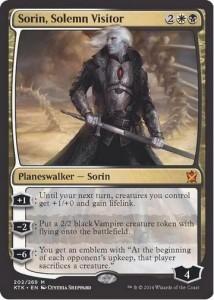 白黒神話の新ソリン「Sorin, solemn Visitor」