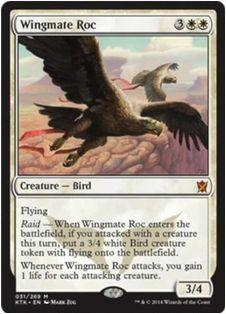タルキール覇王譚の白の神話レア「Wingmate Roc」