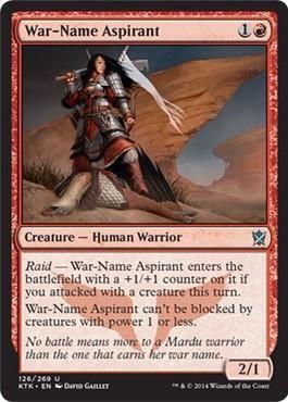 マルドゥの攻撃的軽量クリーチャー「War-Name Aspirant」