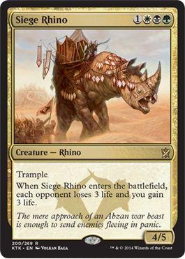アブザンの多色レアのサイ「Siege Rhino」