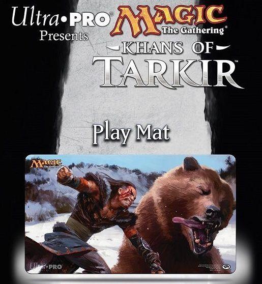 タルキール覇王譚のイラスト人気カード「凶暴な殴打」のプレイマット