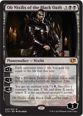 Ob Nixilis of the Black Oath(統率者2014のオブ・ニクシリスPW)