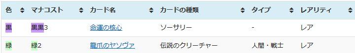 (Before)MTG「運命再編」収録カードリスト・データベース