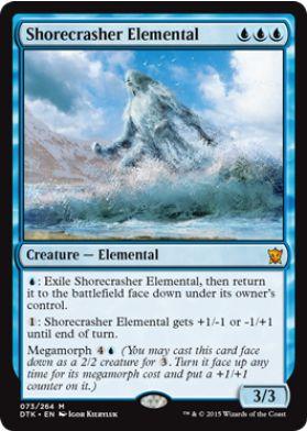 MTGタルキール龍紀伝に収録の青神話「Shorecrasher Elemental」