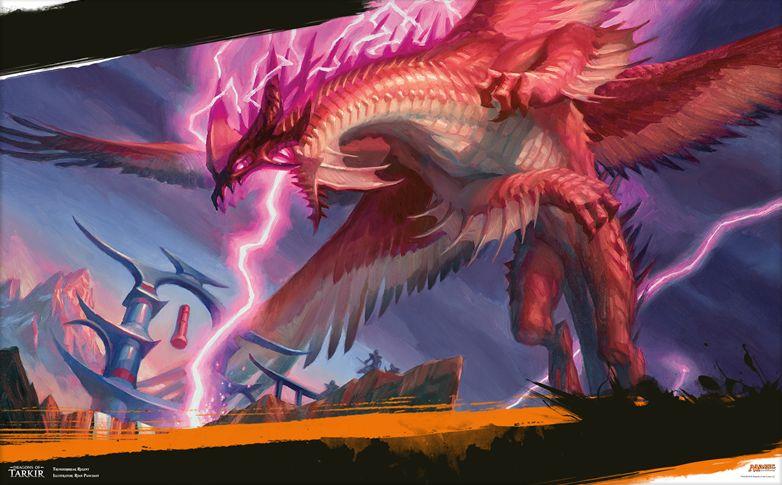 タルキール龍紀伝の赤レア竜「雷破の執政」の壁紙