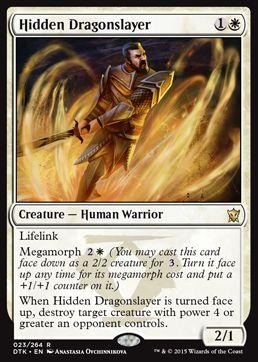 MTG「タルキール龍紀伝」に収録の「Hidden Dragonslayer」