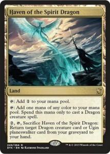 MTG「タルキール龍紀伝」に収録のレア土地「Haven of the Spirit Dragon」