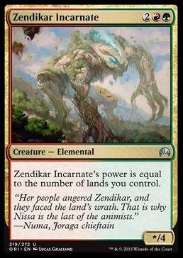 マジック・オリジンに収録の赤緑エレメンタル「Zendikar Incarnate」