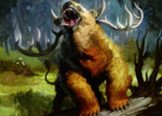 マジック・オリジン収録の緑神話生物「Woodland Bellower」