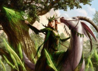 緑黒の多色エルフ「群れのシャーマン」(マジック・オリジン)
