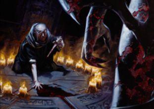 マジック・オリジンの黒レア生物「血の儀式の司祭」