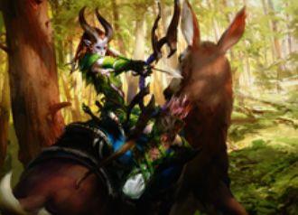 マジック・オリジンの黒レアエルフ「光り葉の選別者」
