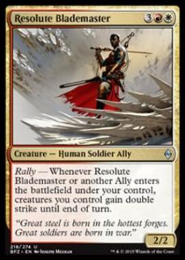 Resolute Blademaster(戦乱のゼンディカー)