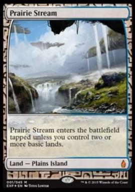 大草原の川(Prairie Stream)(Zendikar Expeditions プレミアム神話レア 戦乱のゼンディカー)