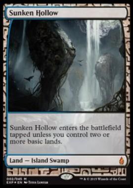 窪み渓谷(Sunken Hollow)(Zendikar Expeditions プレミアム神話レア 戦乱のゼンディカー)