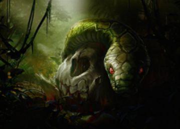 統率者2015に収録のアンコ蛇「Skullwinder」