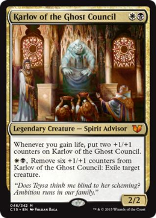 Karlov Of The Ghost Council(統率者2015)