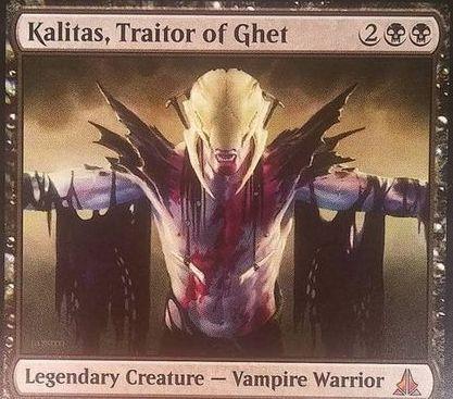 ゲートウォッチの誓いの神話吸血鬼「Kalitas, Traitor of Ghet」(ゲートウォッチの誓い)
