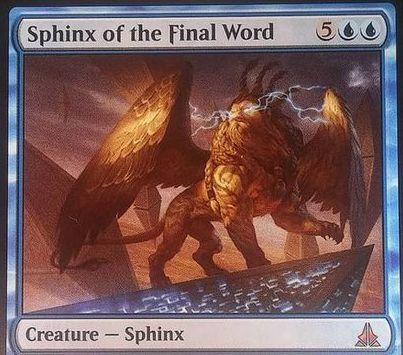 ゲートウォッチの誓い収録の神話スフィンクス「Sphinx of the Final World」
