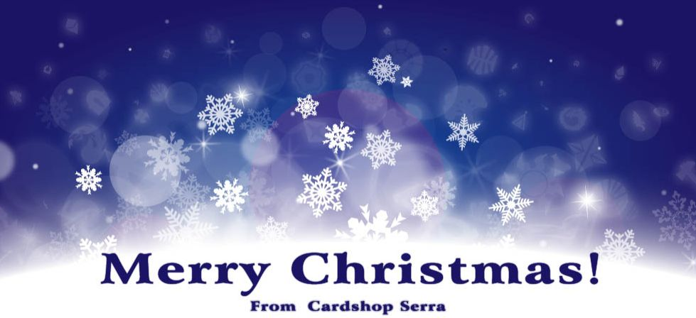 カードショップ・セラのMTGシンボルを散りばめたクリスマスバナー