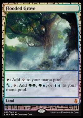 溢れかえる果樹園(ゲートウォッチの誓い Zendikar Expeditions プレミアム神話レア)