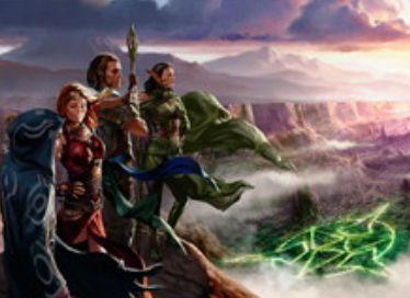 緑レアのエンチャント「ゼンディカーの復興者」(ゲートウォッチの誓い)