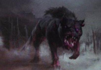 黒コモンの猟犬「Hound of the Farbogs」(イニストラードを覆う影)