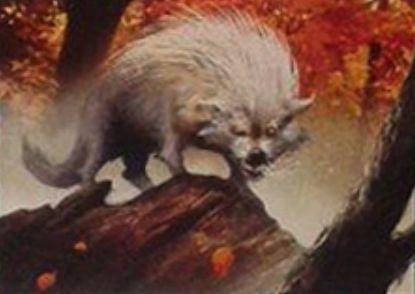 緑コモンの狼「Quilled Wolf」(イニストラードを覆う影)