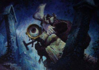 青コモンのホムンクルス「Furtive Homunculus」(イニストラードを覆う影)