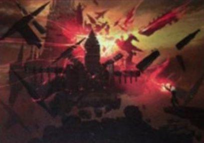 赤コモンのソーサリー「Structural Distortion」(イニストラードを覆う影)