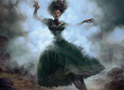 イニストラードを覆う影に収録の白レアインスタント「Eerie Interlude」