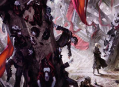 イニストラードを覆う影に収録の白レアソーサリー「石の宣告」
