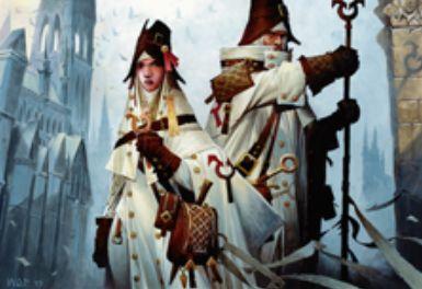 白アンコのクレリック「アヴァシン教の宣教師(イニストラードを覆う影)」
