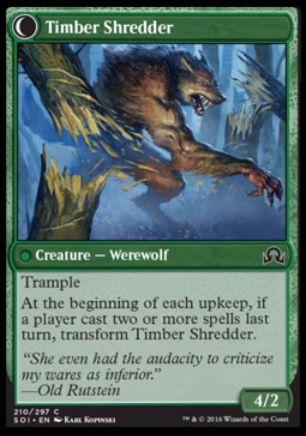Timber Shredder(イニストラードを覆う影)
