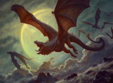 イニストラードを覆う影に収録の青レアドレイク「ネフィリアの月ドレイク」
