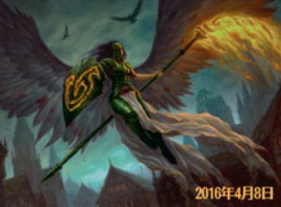 イニストラードを覆う影の白レア天使「救出の天使」