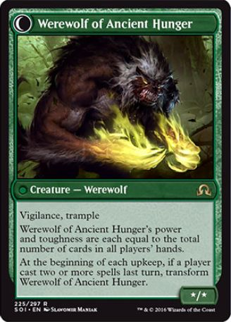 Werewolf of Ancient Hunger(イニストラードを覆う影)