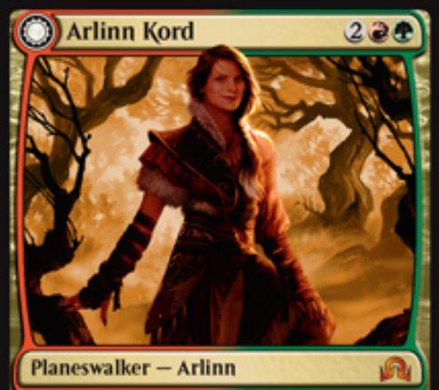 赤緑の両面神話PW「アーリン・コード」(イニストラードを覆う影)