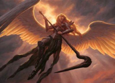 白緑の伝説神話天使「Sigarda, Heron's Grace」(イニストラードを覆う影)