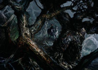 緑レアのソーサリー「Traverse the Ulvenwald」(イニストラードを覆う影)