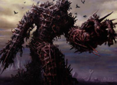 黒レアのゾンビ「戦墓の巨人(イニストラードを覆う影)」