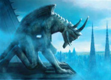 アンコモンのアーティファクトクリーチャー「Thraben Gargoyle」(イニストラードを覆う影)