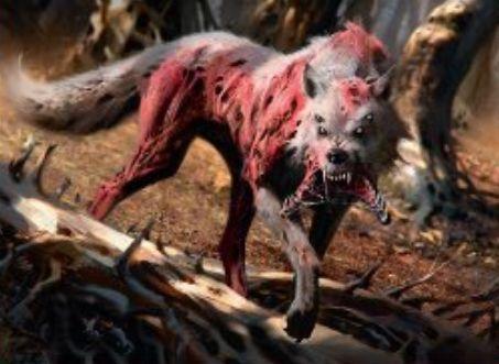 赤レアの狼ホラー「Scourge Wolf(イニストラードを覆う影)」