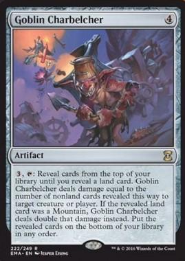 ゴブリンの放火砲(Goblin Charbelcher)(エターナルマスターズ)