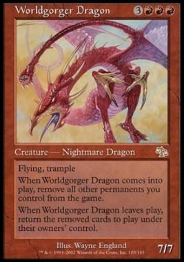 世界喰らいのドラゴン(Worldgorger Dragon)(ジャッジメント)