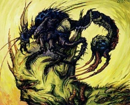 スカージ「ワイアウッドの共生虫」がエターナルマスターズ版新規イラストになってアンコモンで収録決定!